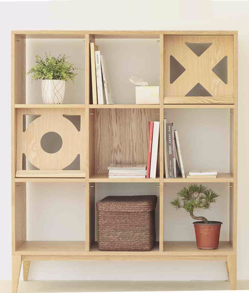 Ziinlife GIOCCO BOOKSHELF NATURAL OAK