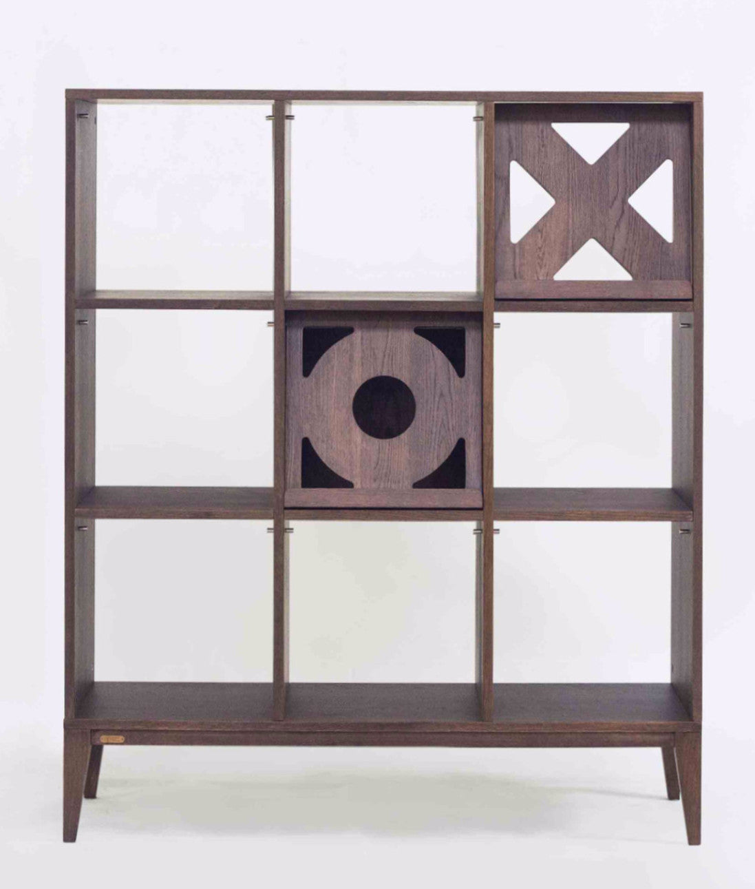 Ziinlife GIOCCO BOOKSHELF WALNUT BROWN