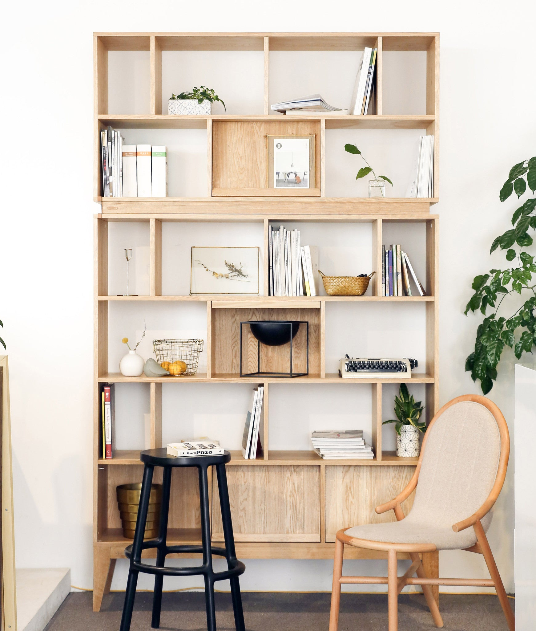 KARLI BOOKSHELF ziinlife oak