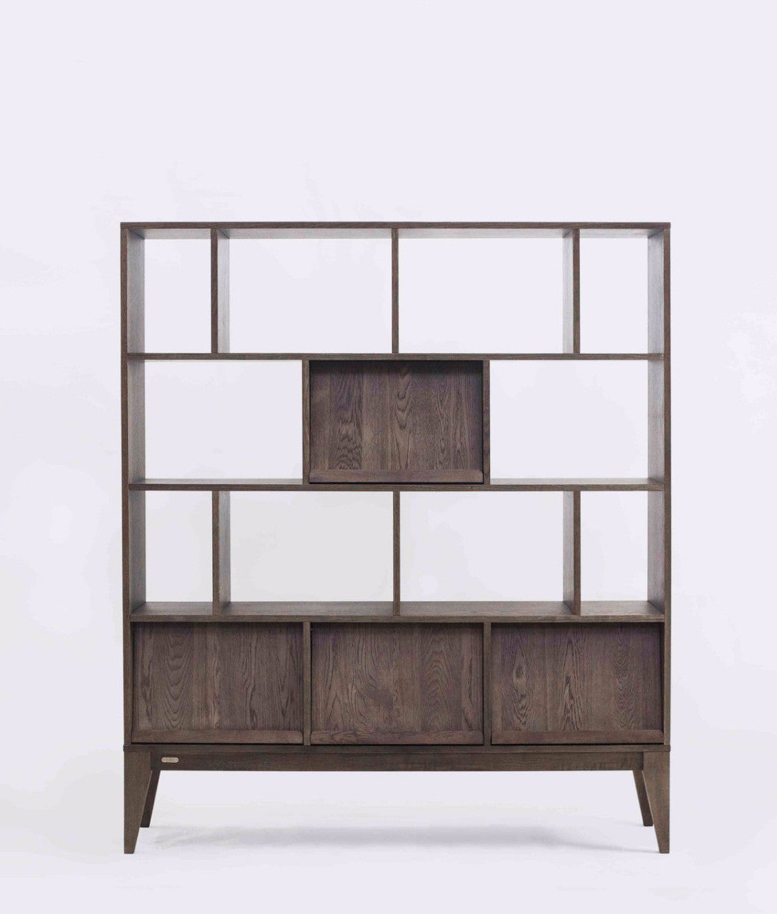 Ziinlife KARLI BOOKSHELF WALNUT BROWN