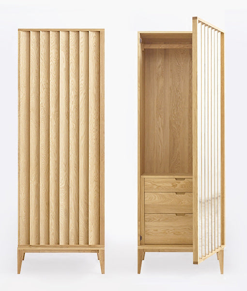 Wardrobe SET (Wide Wardrobe + Side Wardrobe) oak