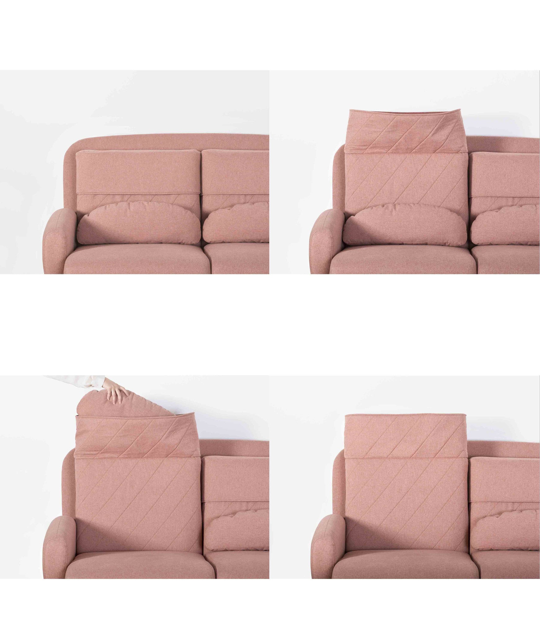 TURTLENECK SOFA - TRIPLE peach