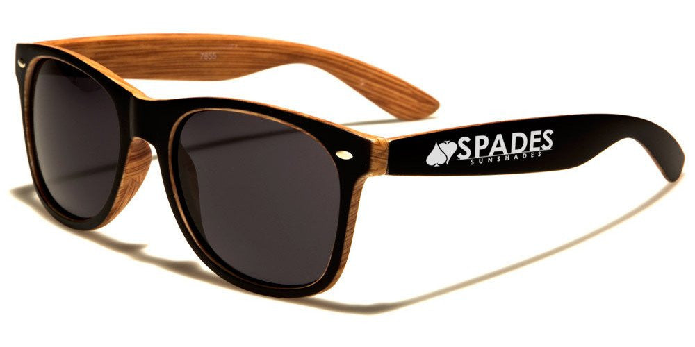 spades sun shades wood frame sunglasses - Wood Frame Glasses