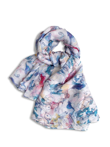 Chailie Ho's Rabbit Silk Scarf