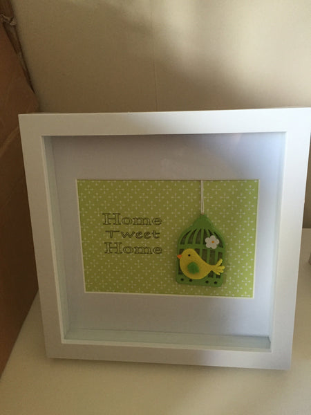 Home Sweet / Tweet Home Box Frame - New Home / House Warming Gift