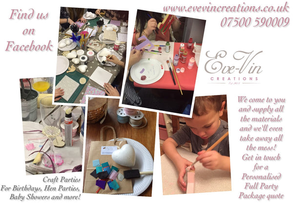 Crafting Party Booking. Birthdays, Hen Parties, Baby Showers