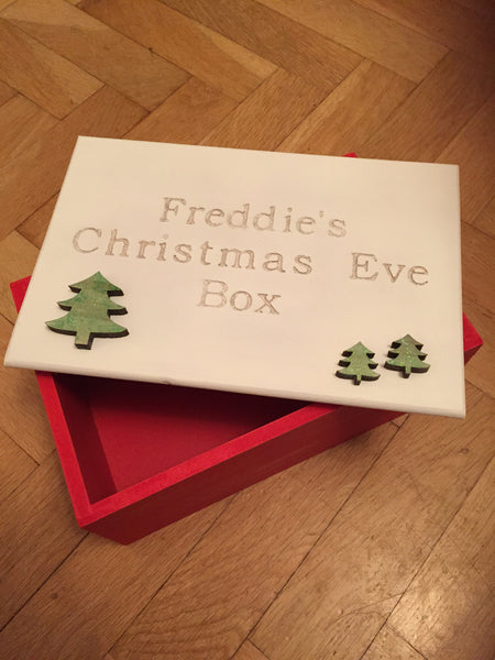 Christmas Eve Box - Wooden Lift off lid - Personalised