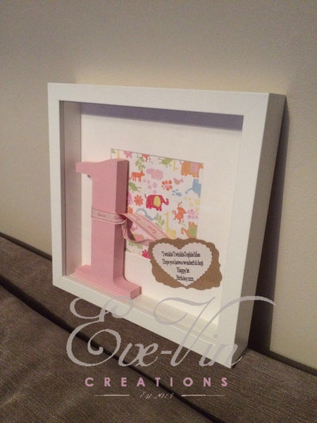 Personalised Box Frame - Birthday Christening Anniversary Wedding