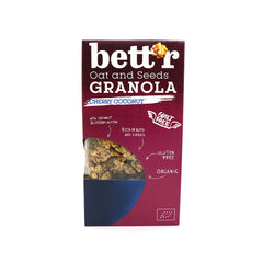 Bett'r Organic Oat & Seeds Granola - Cherry and Coconut|Bett'r 有機燕麥穀物 - 櫻桃椰子