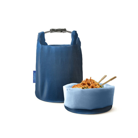 Grab'n'Go Eco-Friendly Food Bag - Square Blue|Grab'n'Go 便攜輕食袋 - 暗格藍