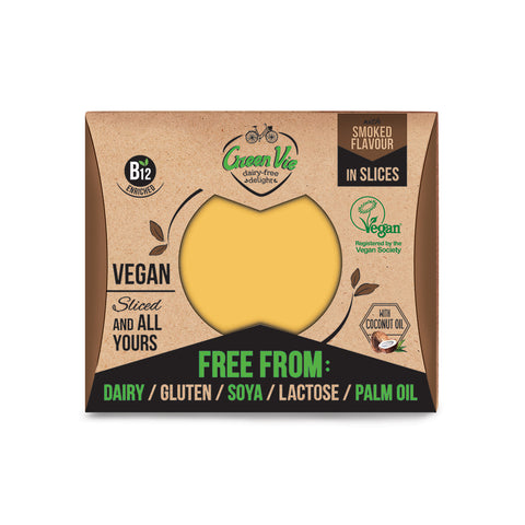 GreenVie Smoked Gouda Flavour Vegan Cheese Slices|GreenVie 煙燻高達純素芝士 (片裝)
