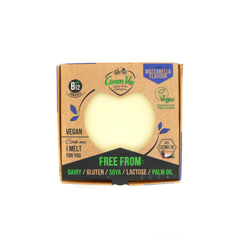 GreenVie Mozzarella Flavour Vegan Cheese Block|GreenVie 馬蘇里拉純素芝士 (磚)