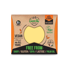 GreenVie Pizza Flavour Vegan Cheese Slices|GreenVie 薄餅味純素芝士 (片裝)