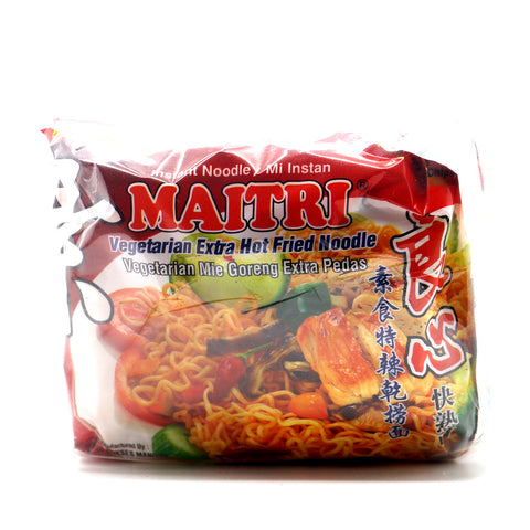 Instant Veg Extra Hot Fried Noodle (5 packs)|良心特辣乾撈麵 (5 包)