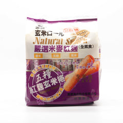 Brown Rice with Five Grains Cracker Stick - Red Yeast Flavor |五糧紅麴玄米捲