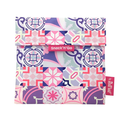 Snack'n'Go Eco-Friendly Snack Bag - Patchwork Purple|Snack'n'Go Patchwork 環保麵包袋 - 拼布紫