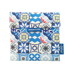 Snack'n'Go Eco-Friendly Snack Bag - Patchwork Blue|Snack'n'Go Patchwork 環保麵包袋 - 拼布藍