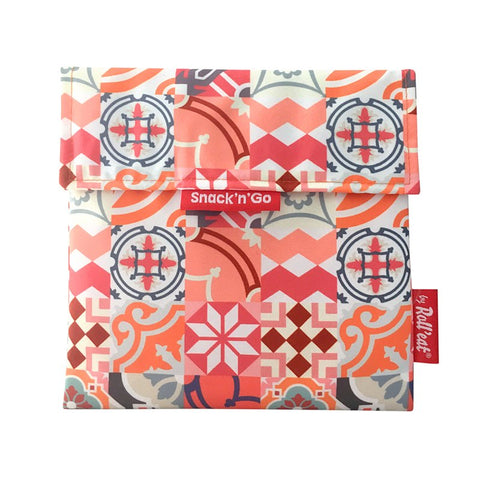 Snack'n'Go Eco-Friendly Snack Bag - Patchwork Orange|Snack'n'Go Patchwork 環保麵包袋 - 拼布橙