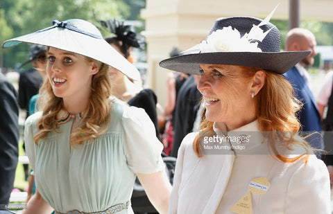 The Duchess of York wears Jess Collett Milliner to Royal Ascot 2016