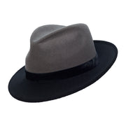 Morgane Two-Tone Trilby - Black and Charcoal