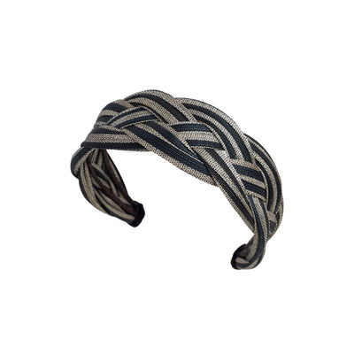 Toquilla Sunrise Hairband - Black and Grey