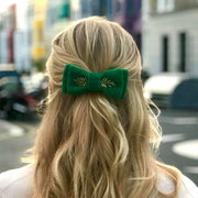 Blondie Bow - Emerald Green