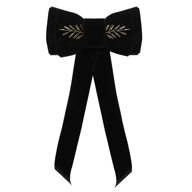 Blondie Tail Bow - Embellished - Black