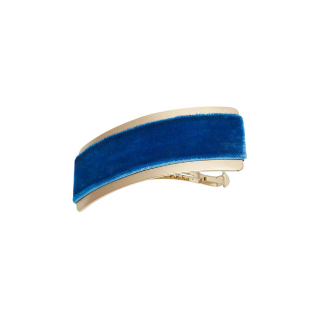 Velvet Barrette Hairclip - Alice in Wonderland Blue