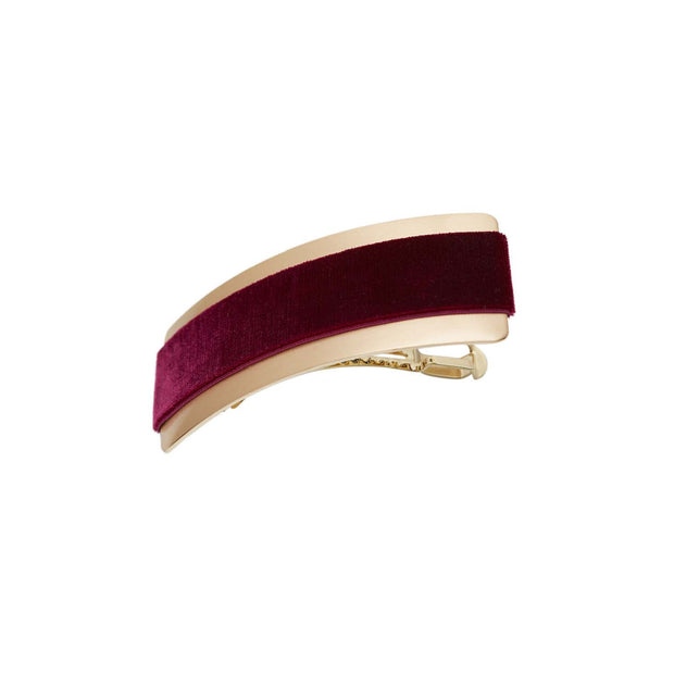 Velvet Barrette Hairclip - Wine