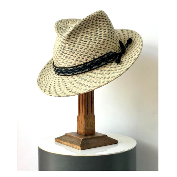 Checked Panama Trilby