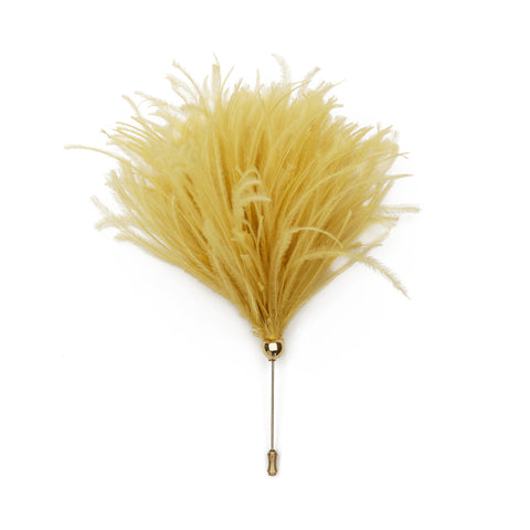 Ostrich Hat Pin (Yellow)