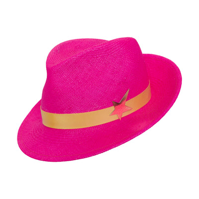 The Jackson Panama Trilby - Hot Pink