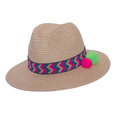 JCM World Traveller Natural - With Pink Zigzag Band