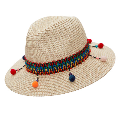 Multi Pom-pom World Traveller hat