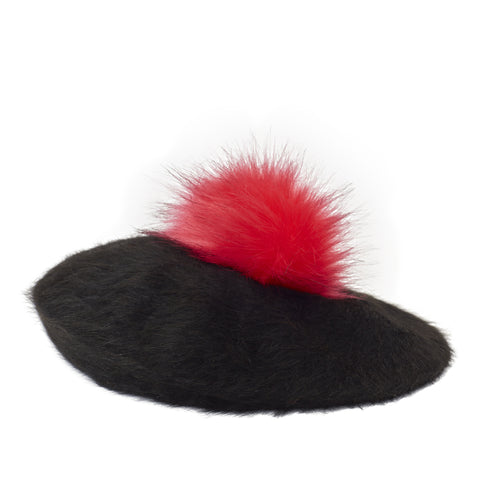 Pretty Things Beret - Black & Red