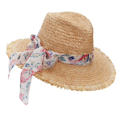 The Raffia World Traveller - Chiffon Wildflower ribbon