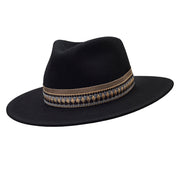 The Hometown Trilby - Black with woven band