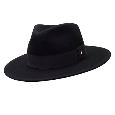 The Hometown Trilby - Black with plain band