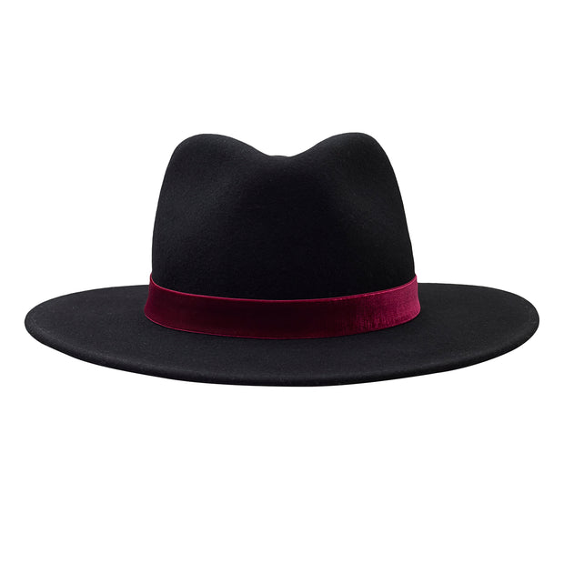The Hometown Trilby - Black with velvet band