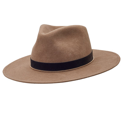The Hometown Trilby - Mink with golden chain