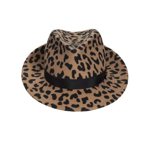 JCM PUNK Trilby. Leopard with black band. Handmade in England.