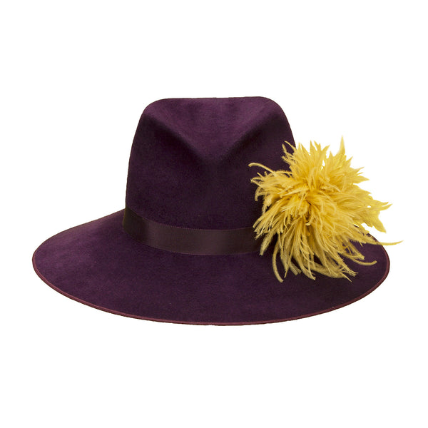 Pretty Things Feather Fedora - Purple