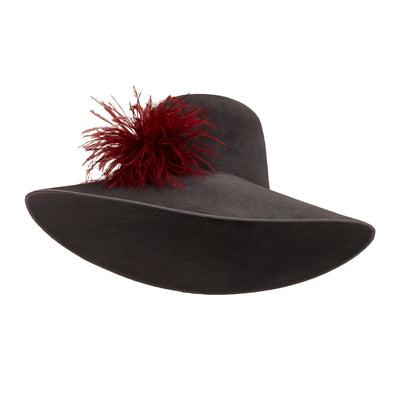 Pretty Things Picture Hat - Grey & Burgundy