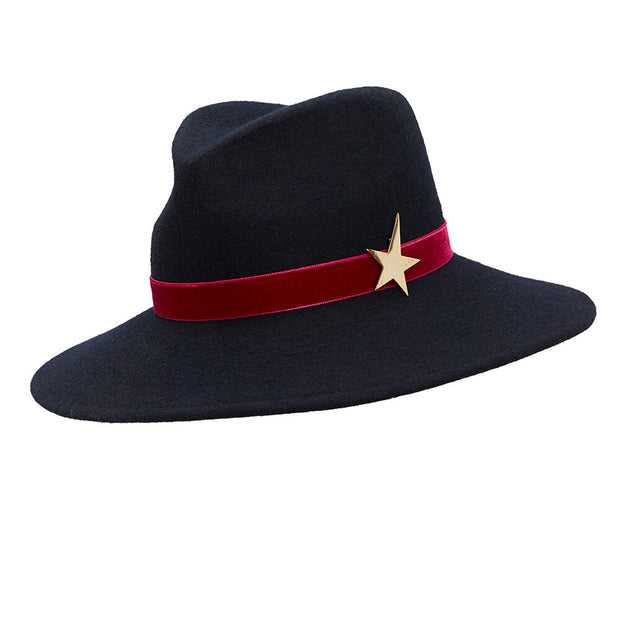 The Rita Fedora - Navy