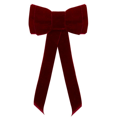 Blondie Tail Bow - Raspberry Red