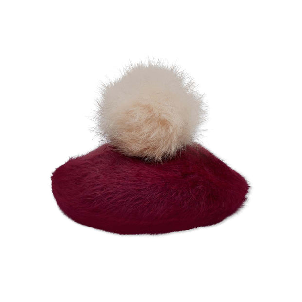 Classic JCM Beret - With Pompom - Cherry
