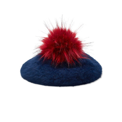 Classic JCM Beret - With Pompom - Navy