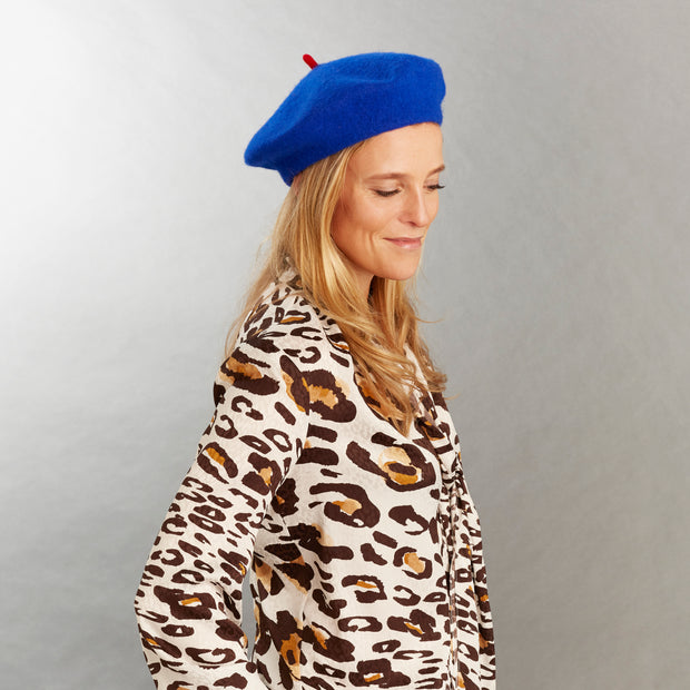The Samantha Wool Beret - Electric Blue
