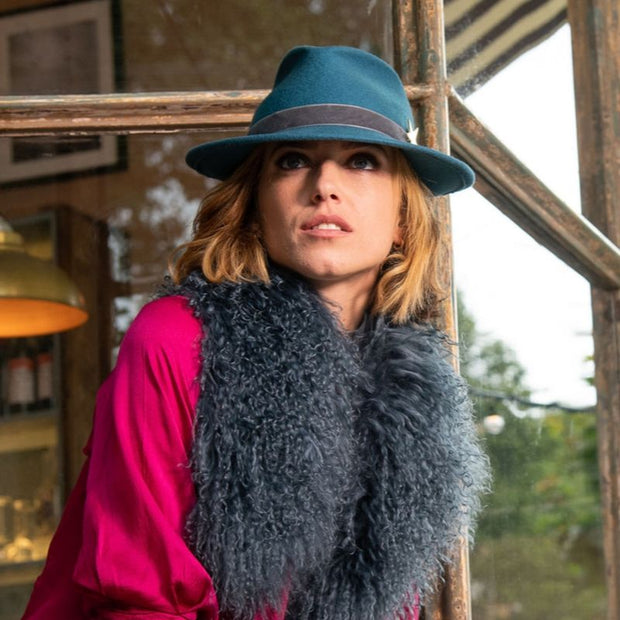 The Jackson Trilby - Turquoise