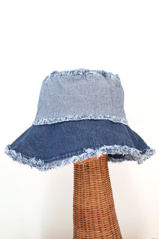 Two Tone Denim Hat